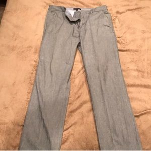 Banana Republic Straight Fit Dress Pants Gray